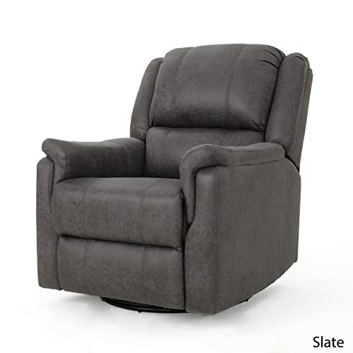 Christopher Knight Home 302058 Jemma Swivel Gliding Recliner Chair, Slate