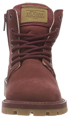 s.Oliver Mädchen 45109 Combat Boots Rot (WINE 506)