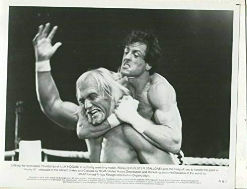 Rocky - Hulk Hogan Sylvester Stallone 1979 Press Photo -