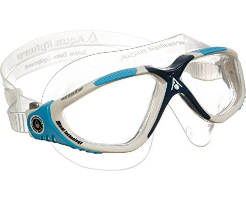 Aqua Sphere Vista Swim Mask, Clear White Blue