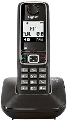 Téléphone fixe SIEMENS GIGASET A420 NOIR SOLO SANS REPONDEUR