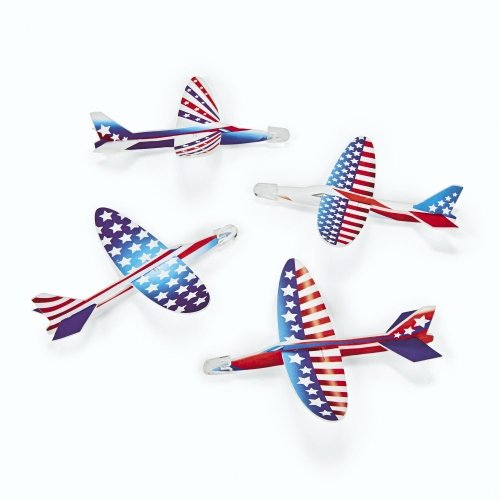 SmallToys Patriotic Foam Gliders - 48 per pack
