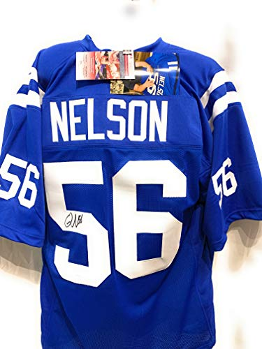 Quenton Nelson Indianapolis Colts Signed Autograph Blue Custom Jersey JSA Witnessed Certified