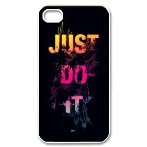 NIKE JUST DO IT S-T-R1037428 Iphone 4,4S Phone Back Case Use Your Own Photo Art Print Design Hard Shell Protection