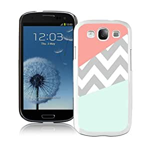 Case Coral Mint Grey Chevron White Fantastic Recommended Customized Samsung Galaxy S3 I9300 Phone Case