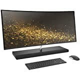 """HP Envy 34 Curved All-in-One Desktop (Intel Core i7-7700T Quad Core Processor, 34"""" WQHD LED (3440x1440) Display, AMD Radeon RX460, Win 10 Pro, 256GB PCIe + 2TB Hard Drive, 16GB DDR4 RAM)"""
