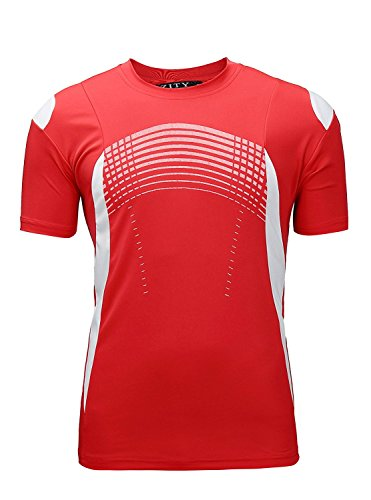 s 100% Polyester Moisture-Wicking Short-Sleeve T-Shirt Red X-Large ()