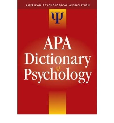 American Psychological Association: APA Dictionary of Psychology (Hardback) - Common