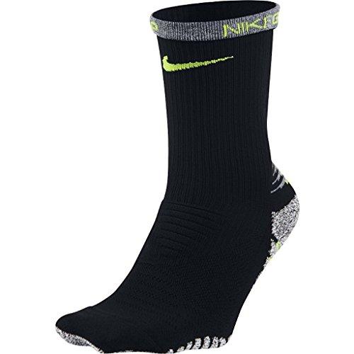 Nike Grip Lightweight Crew Training Men's Socks -( Black/Volt ) XL (Nike Grips)