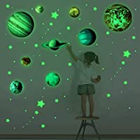 Wall Decals 3D Luminous Wall Stickers Glow in The Dark Stars and Planets Wall Decals