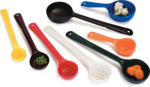 Carlisle 398008 Solid Long Handle Portion Control Spoon, 4 oz, Forest Green (Pack of 12)
