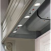 Vent-A-Hood BH240PSLD SS 41 Wall Mounted Liner Inserts with 600 CFM 6.5 Sones Sound Level Magic Lung Blower and Dual Level Lighting in Stainless