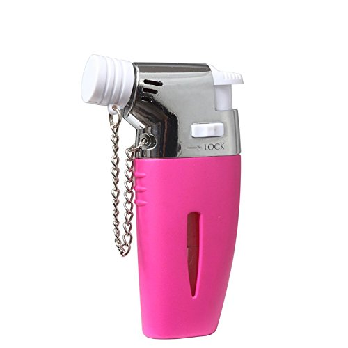 GuangFa Handheld Mini 862 Butane Torch Lighter Windproof Refillable Gas Steel Adjustable Flame 1300°C/2500°F for Kitchen Cooking Cigar Light BBQ Welding (Rose)