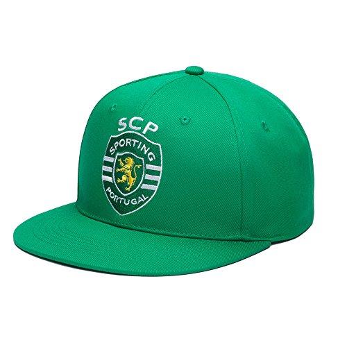 Fan Ink Limited Sporting Clube De Portugal Adjustable Snapback Team Color Flatbill Soccer Hat, One Size, Green ()