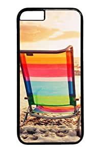 Chairs At The Beach Custom iphone 6 plus 5.5 inch Case Cover Polycarbonate Black