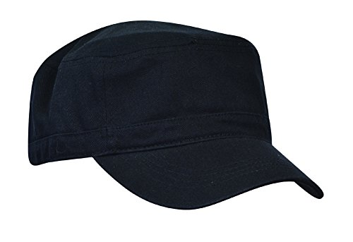 KC Caps Unisex Washed Cotton Twill Adjustable Army Military Cadet Cap Black (Cotton Twill Washed Hat)
