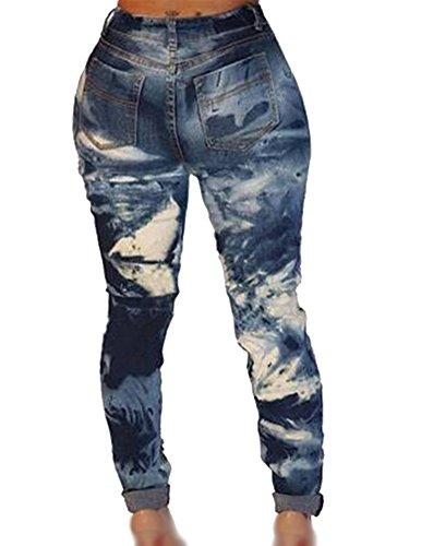 Slim Elásticos Cadena Como Mujer Vaqueros Fit Skinny Rotos Ocio Agujero La Denim Imagen Jeans qzwZYfwt