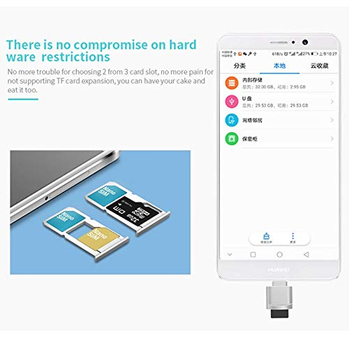Car Reader WHF POFAN F05 USB-C//Type-C 3.1 to Micro SD Card Gold Color : Gold TF Card Reader Adapter for MacBook//Google Chromebook//Nokia N1 Tablet PC//OTG Function Smartphones