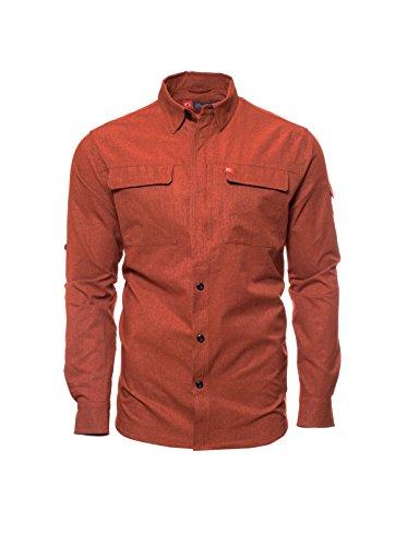 American Outdoorsman The Long-Sleeve Green River Guide Shirt (X Large, Dark Orange)