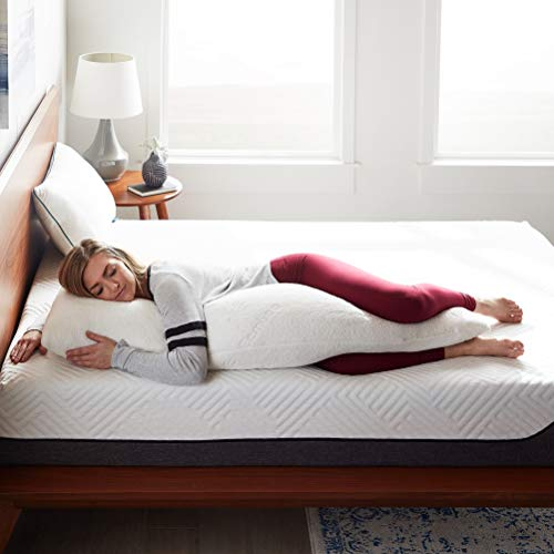 LUCID Shredded Memory Foam Full Body Pillow - Side Sleeper - Hypoallergenic - Perfect for Pregnancy - Ultra Soft Rayon from Bamboo Cover,