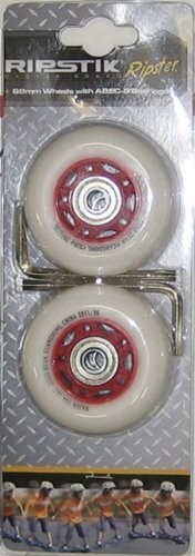 Ripster Replacement 68mm Wheel Set - Red - for Mini RipStik by Razor