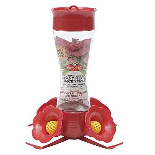 Perky-Pet 203CPBN Pinch Waist Glass Hummingbird Feeder with Free Nectar