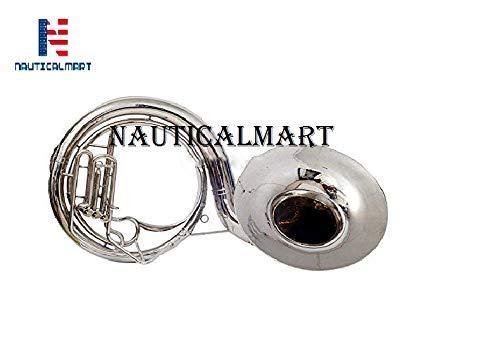 Brass Sousaphone 22 Valve Big Tuba Made Of/Full Brass W/Bag Brass Finish Tubas Silver by NAUTICALMART