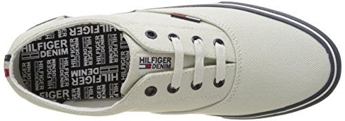 Tommy Hilfiger V2385ic 2d, Zapatillas para Hombre Blanco (Off White 156)