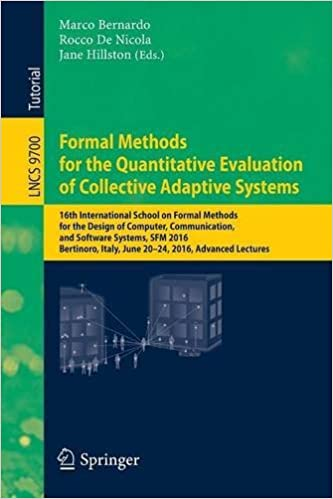 Englanninkieliset kirjat ladattaviksi Formal Methods for the Quantitative Evaluation of Collective Adaptive Systems: 16th International School on Formal Methods for the Design of Computer, ... Lectures (Lecture Notes in Computer Science) 3319340956