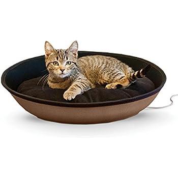 "K&H Pet Products Thermo-Mod Sleeper Heated Pet Bed Medium Tan/Black 23"" x 16"" 4W"