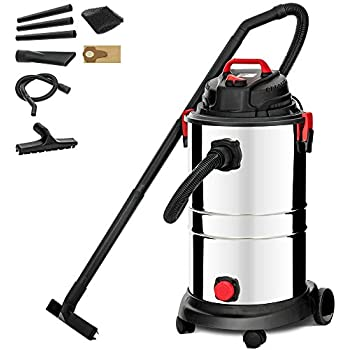 KUPPET Wet/Dry Vacuum Cleaner, Vac Portable Shop Vacuum with Attachments, 13 Gallon, 4 Horsepower, Stainless Steel Tank(1200W)...