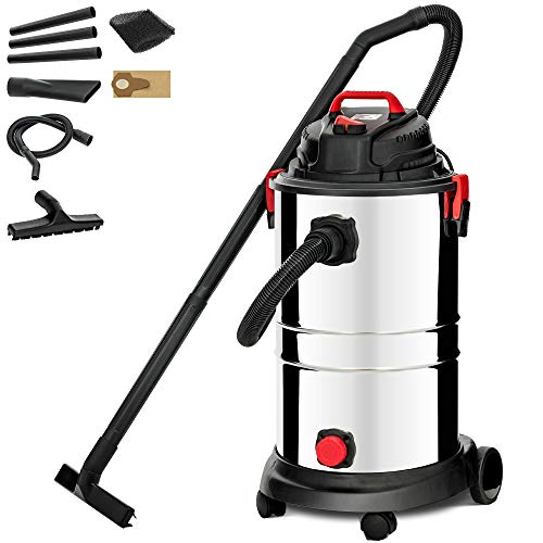 KUPPET Wet/Dry Vacuum Cleaner, Vac Portable Shop Vacuum with Attachments, 13 Gallon, 4 Horsepower, Stainless Steel Tank(1200W)