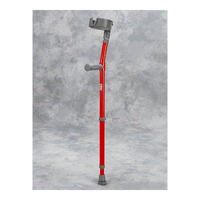 Forearm Crutch Youth - 1 Pair Forearm Crutch w/ Large Full Cuff - Epoxy-coated youth forearm crutches with extra large 4