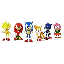 """Sonic Multi Pack 2"""" Action Figure (6 Classic Figures - Knuckles, Sonic, Super Sonic, Amy, Metal Sonic and Tails) TRU Exclusive"""