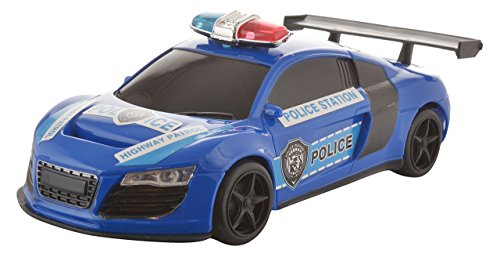 Sonic 1:18 Rechargeable Remote Control Car Sporty Police Model, Blue