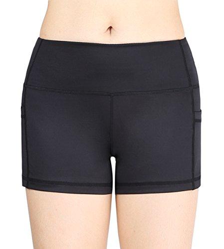 Munvot Women's Active Yoga short Gym Workout Shorts With Side Pocket