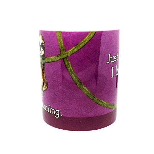 Sloth Loves Running Mug By Pithitude - One Single 11Oz. Green Coffee Mug -