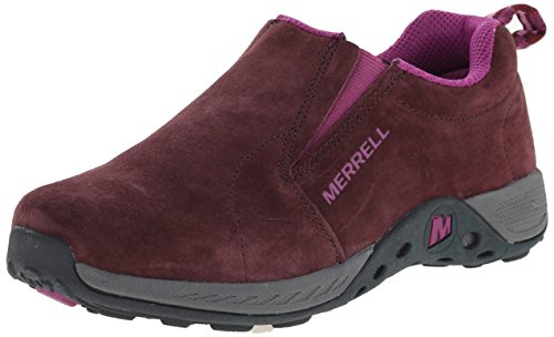 [Merrell Jungle Moc Sport Outdoor Shoe (Little Kid/Big Kid), Berry/Grey, 6 W US Big Kid] (Next Kids Boots)