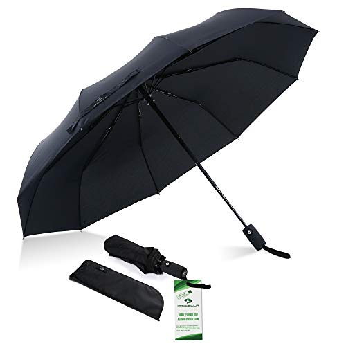 Procella Windproof Travel Umbrella, Compact & Small Closed - Large 46