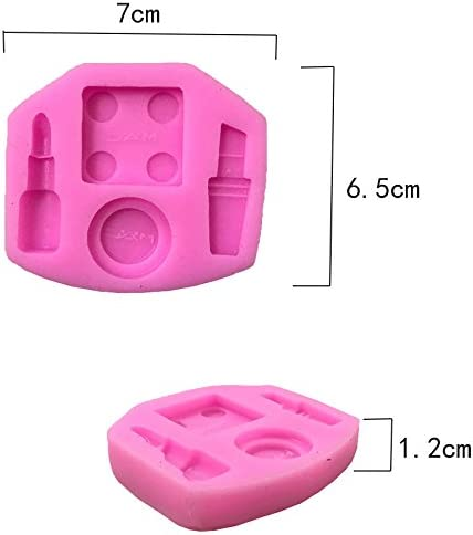 Soap Modeling Allinlove 4 Pack Makeup Design Lipstick Fondant Cake Molds 3D Silicone Soap Chocolate Candy Decorative Baking Bakeware Mould for Pudding Birthday Cake Cupcake Jelly Candy