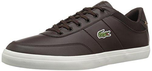 Lacoste Mænds Domstol-master-sneakers Dkbrw / Offwht Læder KzukAfCJv