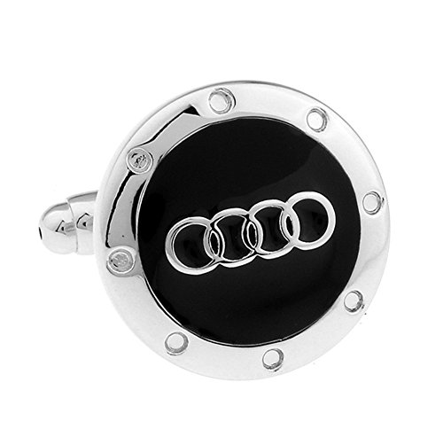 - Promotioneer Men's Audi Logo Symbol Fashion Shirt Cufflinks with Gift Box