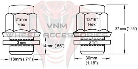 Works with Celica Corolla Camry Avalon Prius 20pc M12x1.5 Spline Black Duplex Lug Nuts Security Socket Keys Included 12x1.5 Thread Pitch