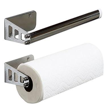 DecoBros Wall Mount Paper Towel Holder, Chrome