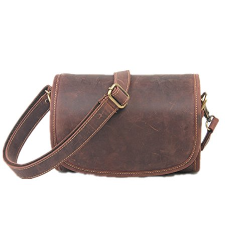 Shopping Retro Simple Leather brown Bag Color Messenger Shoulder f81qwAU