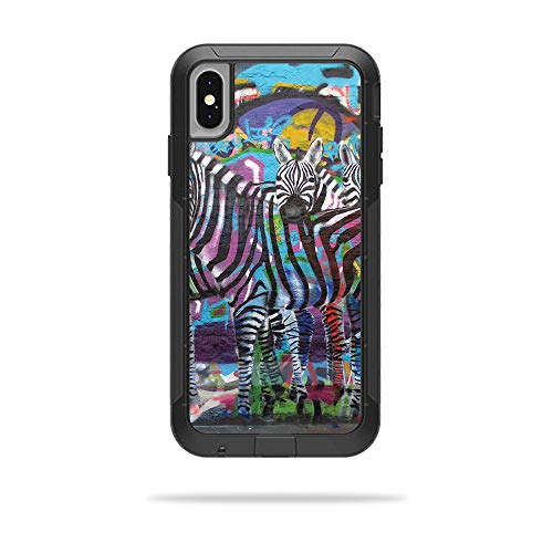 MightySkins Skin for OtterBox Pursuit iPhone Xs Max Case - Zebra Gang | Protective, Durable, and Unique Vinyl Decal wrap Cover | Easy to Apply, Remove, and Change Styles | Made in The USA