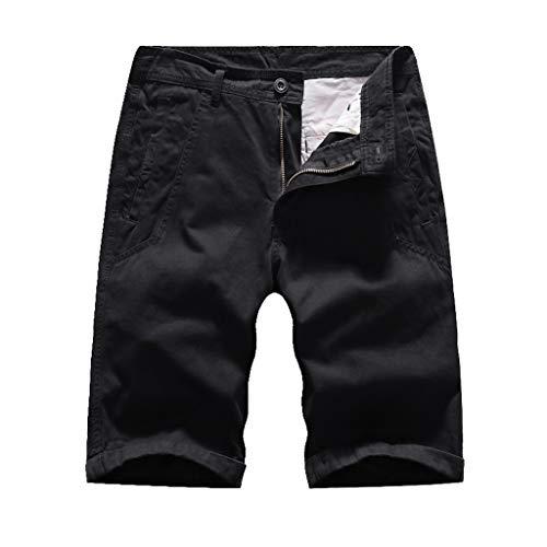 Men's Fashion Business Zipper Button Adjustable Traditional Original Active Expandable Basic Comfort Lightweight, MmNote Black