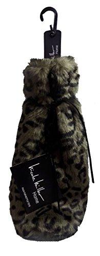 Nicole Miller Luxury Faux Fur Wine/Water Bottle Tote (Leopard)