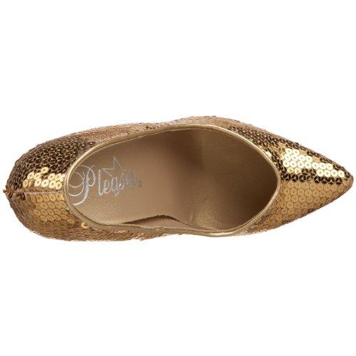 Pleaser SED420SQ/GLD- Zapato Mujer