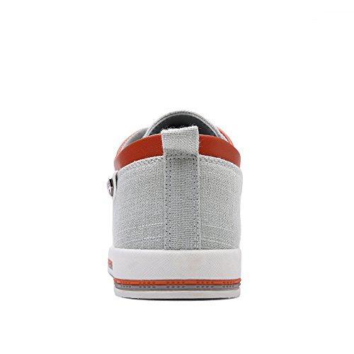 Uomo Comfort Scarpe Casuale Scarpe A Leggero Tela Piatto CUSTOME Passeggio Morbido Sneaker Bianco Espadrillas fxqSdwHSz7